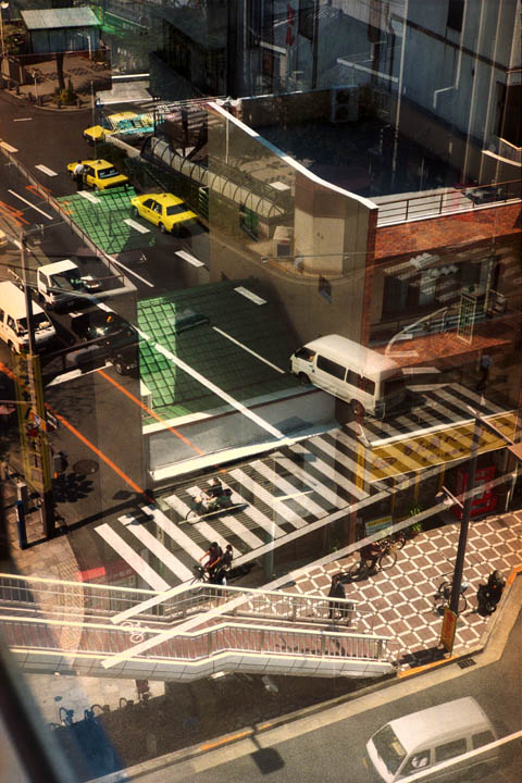 JAPAN. TOKUSHIMA. Looking through a hotel window - 16x12inches £600 - Edition of 6 + 2AP's - 20x24inches £1000 - Edition of 4 + 2AP's
