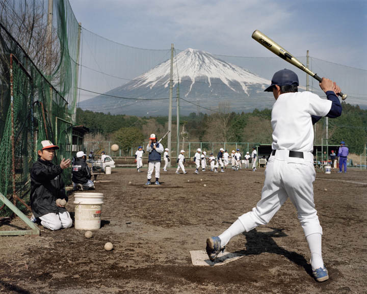 JAPAN. Shizuoka. Coaching baseball between Fujinomiya and Gotemba. 2001 - 16x12inches £600 - Edition of 6 + 2AP's - 20x24inches £1000 - Edition of 4 + 2AP's