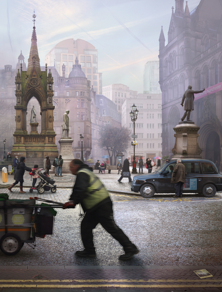 Albert Square, Manchester (after Valette), 2015