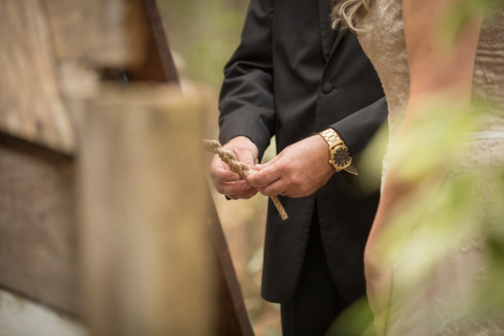 The tying of the knot.