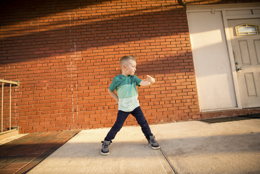 Liam takes hip hop classes. Here's a snapshot of him showing off his moves!