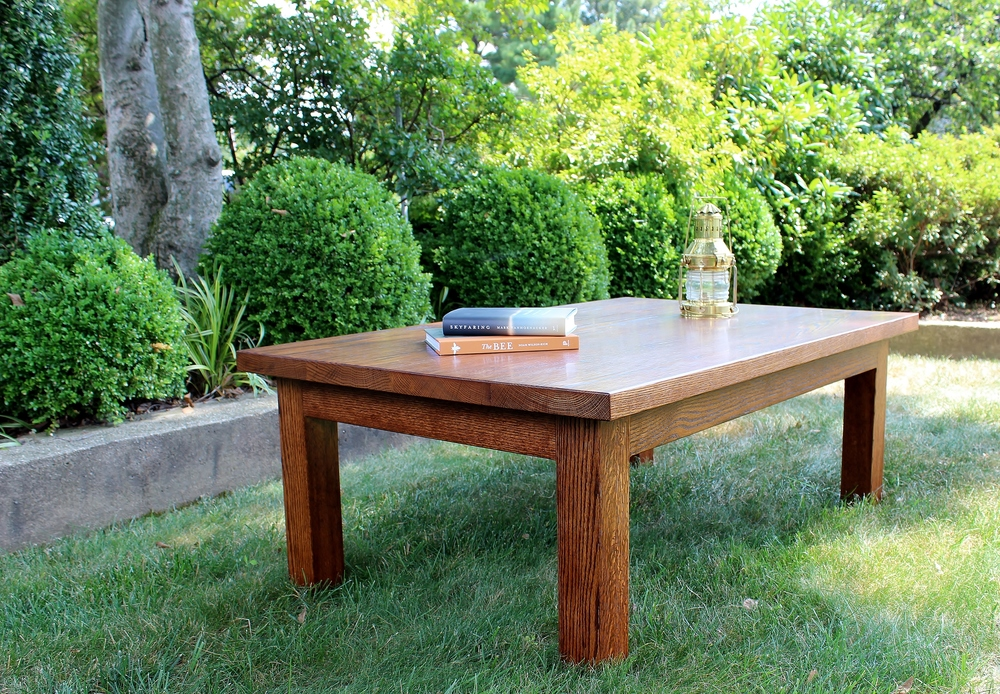 Red Oak Coffee Table