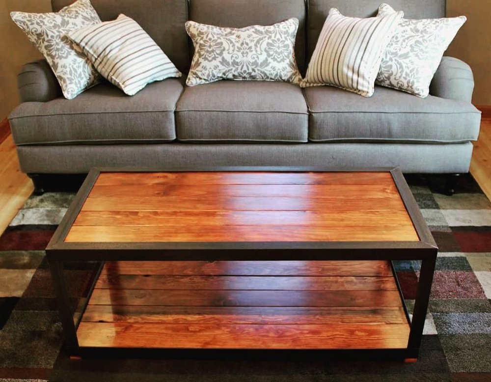 Barn Wood and Steel Coffee Table