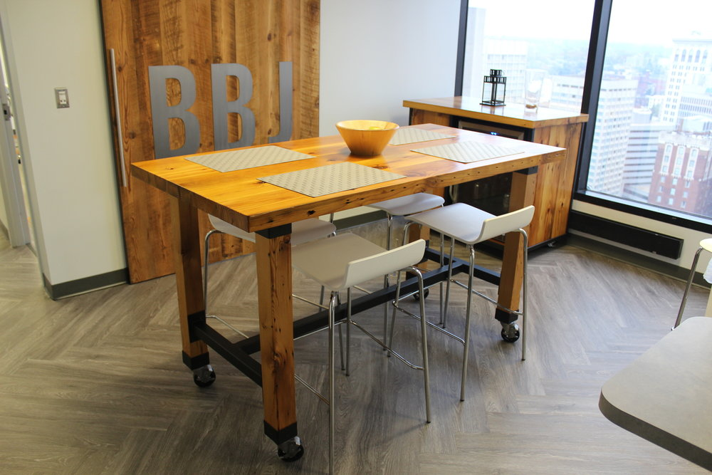 Reclaimed Heart Pine Break Room Table