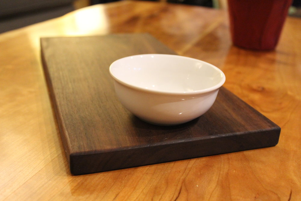 Walnut Cheeseboard with Olive Bowl