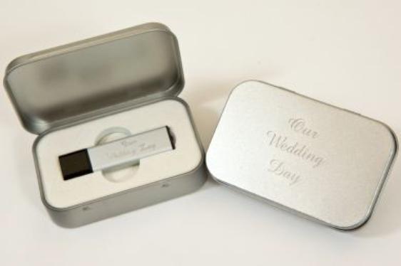 Engraved Metal USB Case