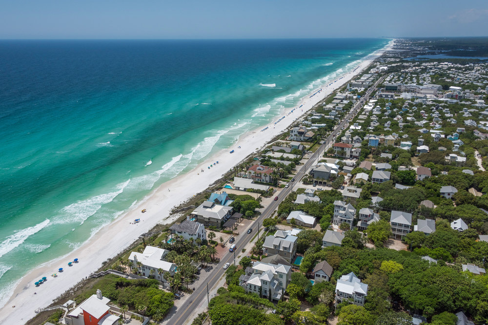 Aerial Photo of the Gulf of Mexico along Scenic Highway 30A