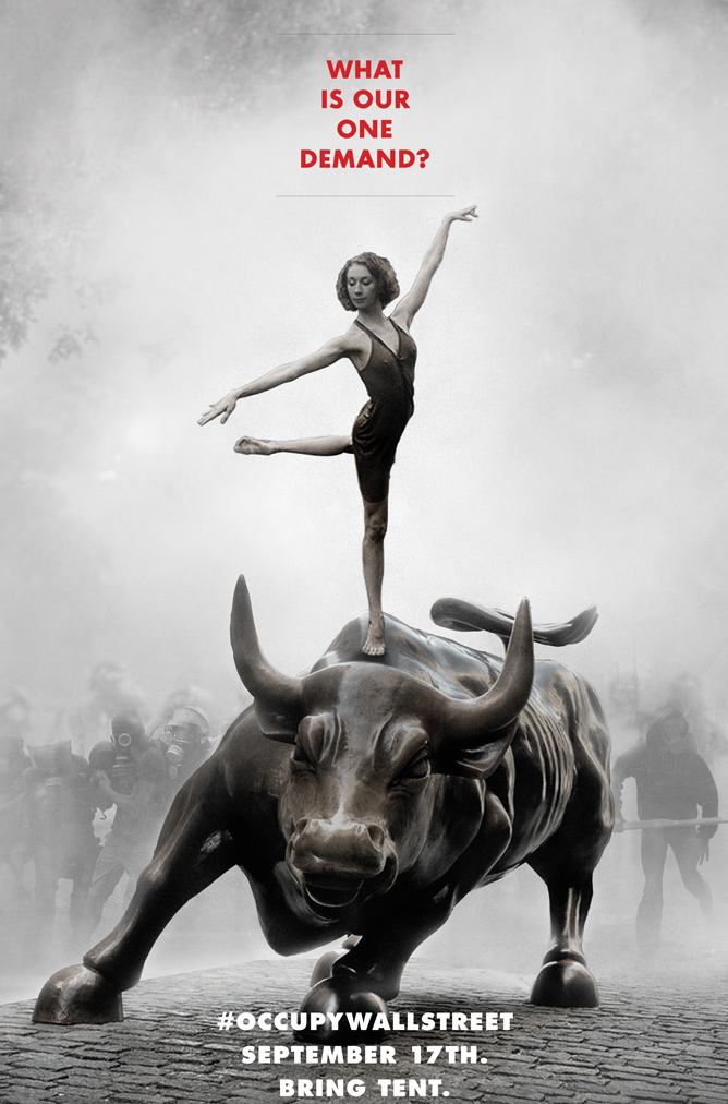 This poster launched Occupy Wall Street.