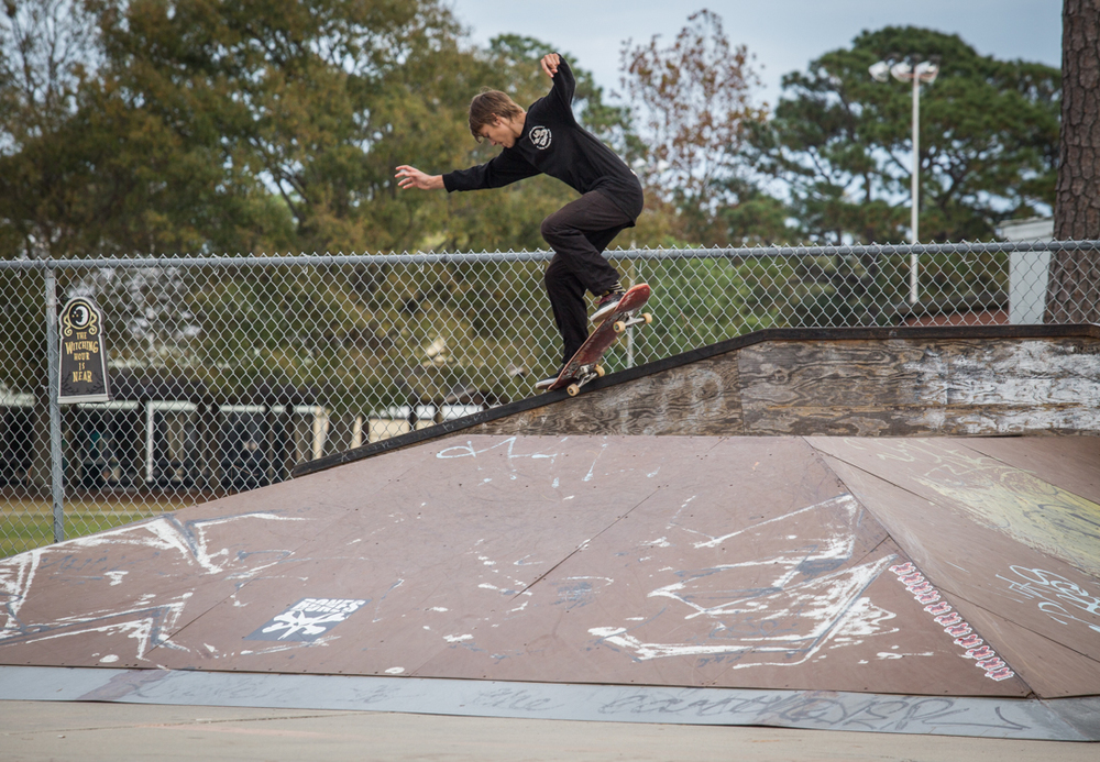 All-black-everything kid crooks like a pro.