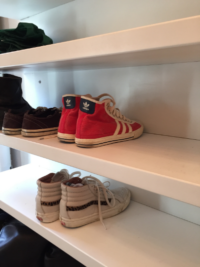 Red Adidas Originals at Brooklyn Yoga Club