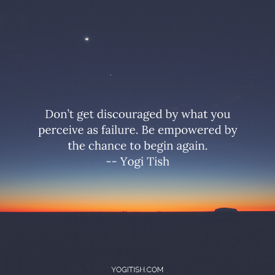 don't be discouraged by failure quote