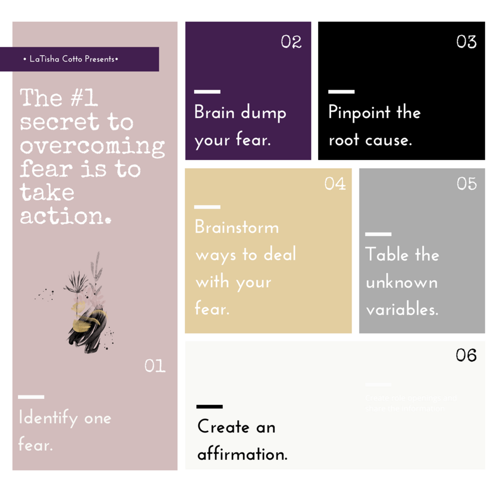 read about how to deal with your fear