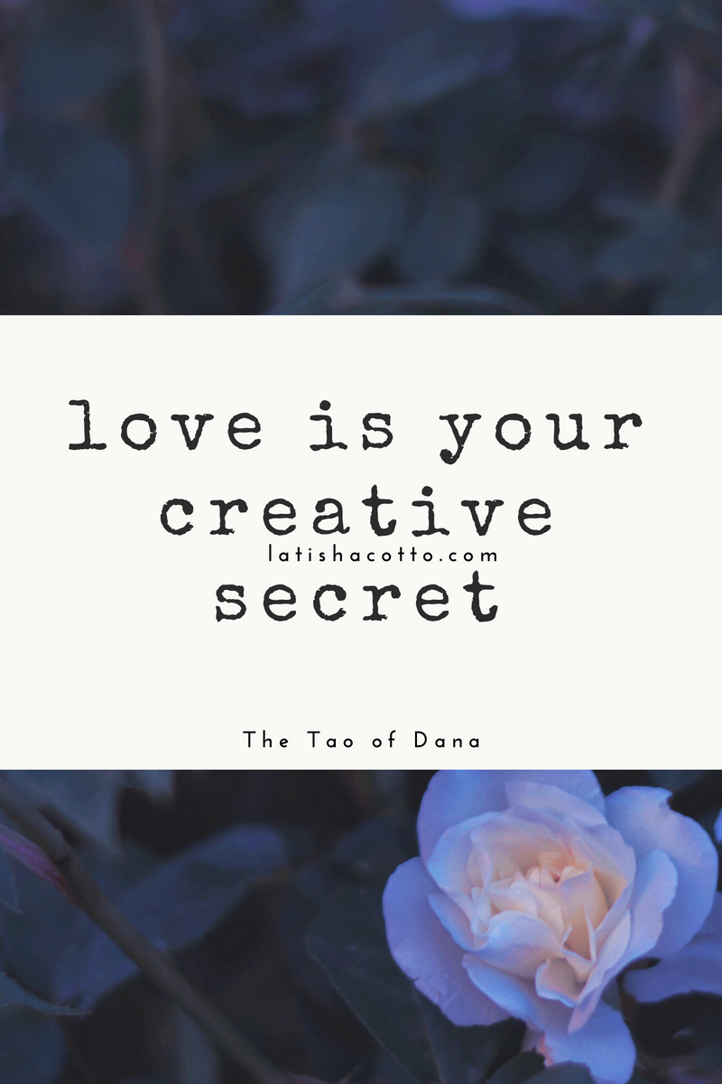love is your creative secret