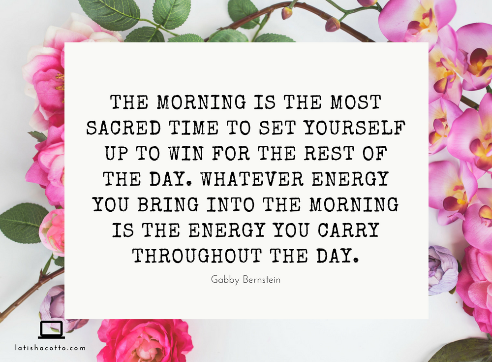 Set Yourself Up to Win in the Morning Quote