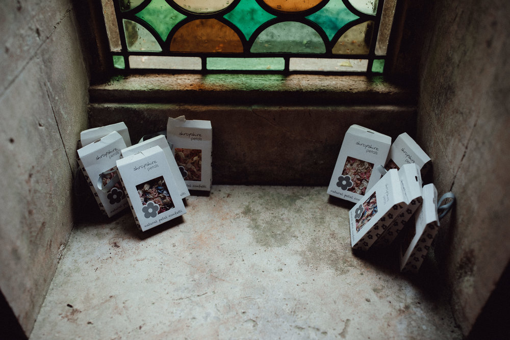 You can acquire your locally grown dried petal confetti direct from Rococo Garden coming in cones and boxes.