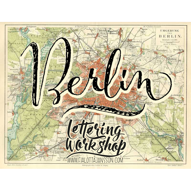 Lettering: Fia Lotta Jansson Design. Vintage map: VIntage Views.