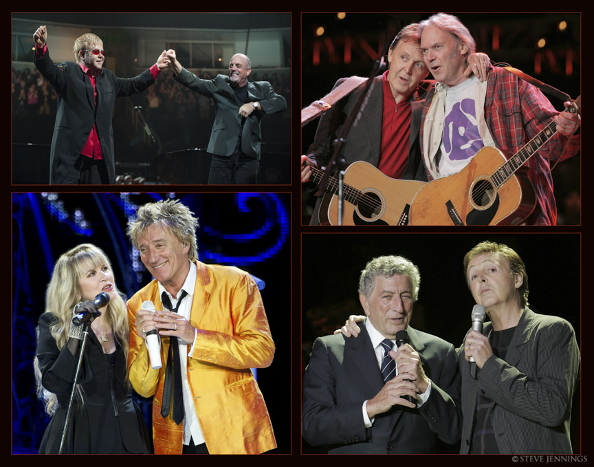 ELTON JOHN & BILLY JOEL, PAUL McCARTNEY & NEIL YOUNG, STEVIE NICKS & ROD STEWART, TONY BENNETT & PAUL McCARTNEY