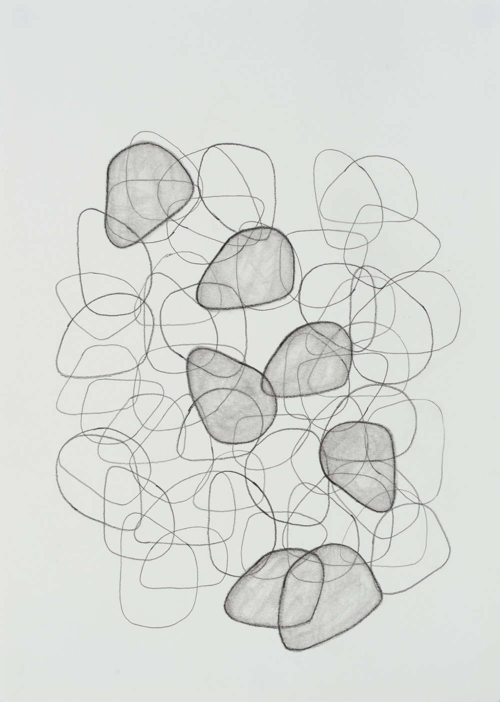 "subtle bodies | stone (01), 2015 | graphite on paper | 11.5"" x 8.25"" 