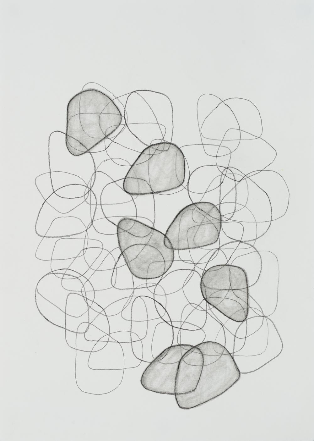 "subtle bodies | stone (01), 2015 | graphite on paper | 11.5"" x 8.25"""