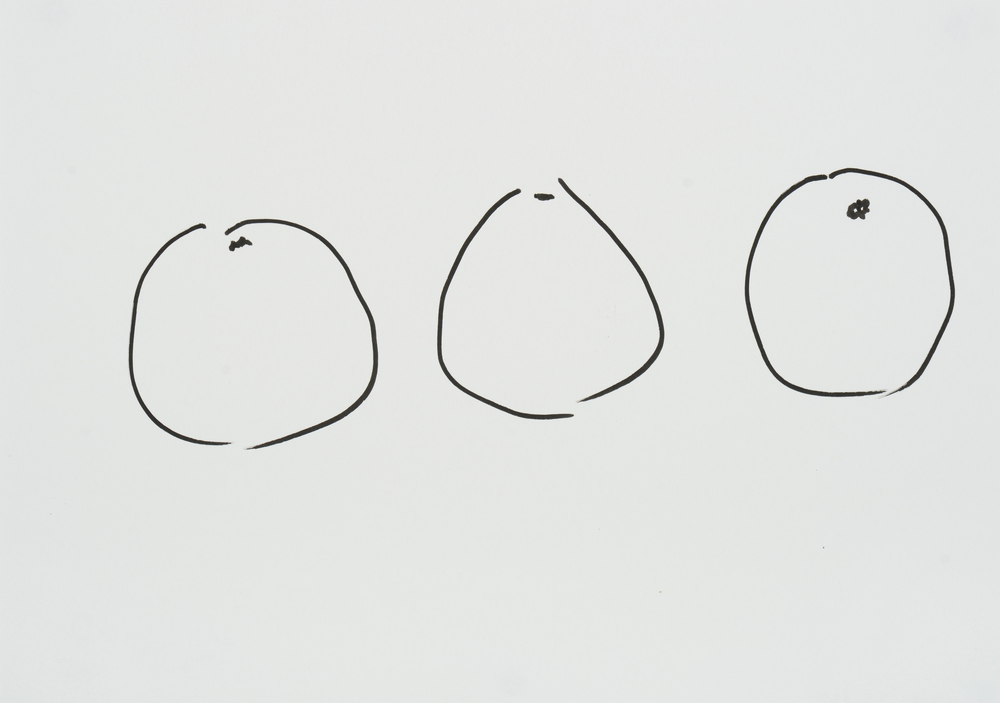 "ensō | grapefruit (03), 2015 | ink on paper | 8.25"" x 11.75"""