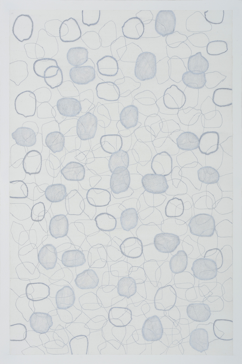 "subtle bodies | stone (06), 2016 | graphite, ink, & gouache on paper | 18"" x 12"""
