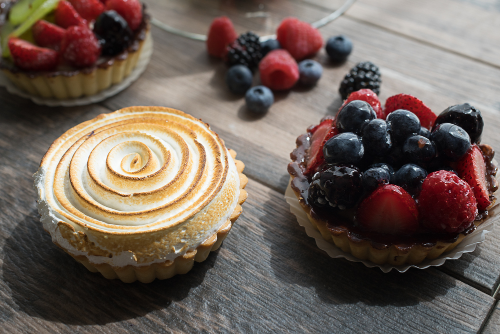 Lemon Meringue + Mixed Berry Tart