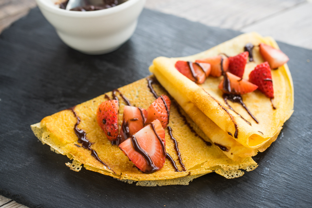 Strawberry Crepes.