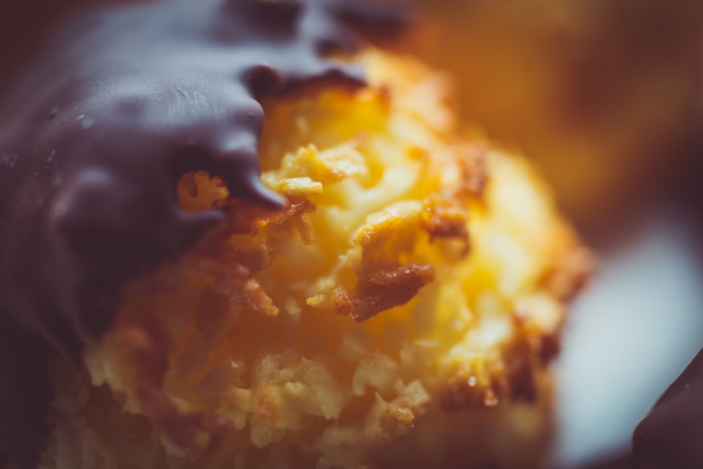 Choclate Covered Coconut Macaroon - Gluten Free