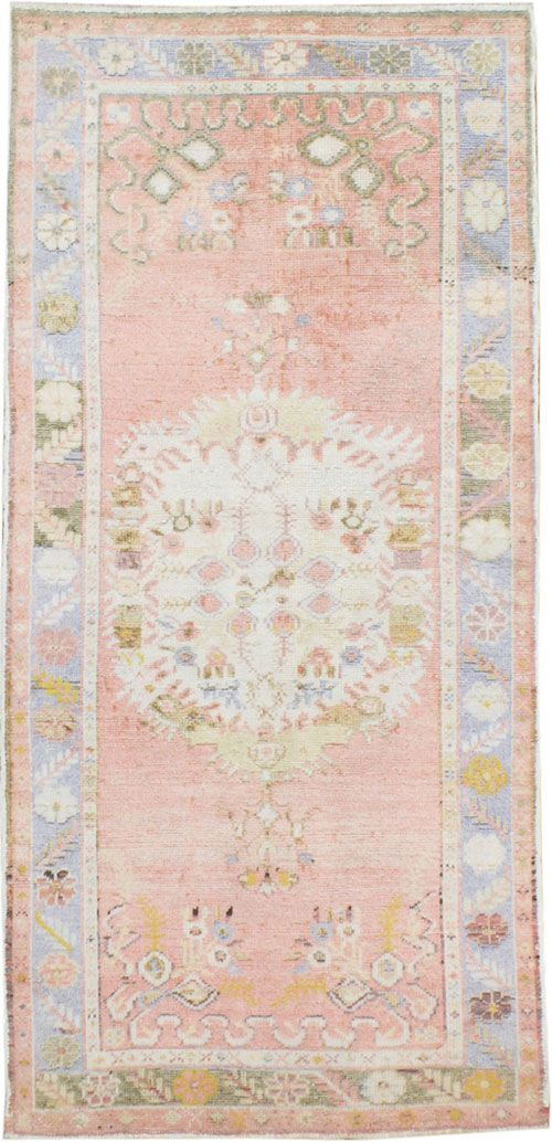 this vintage  oushak rug  is to die for ..