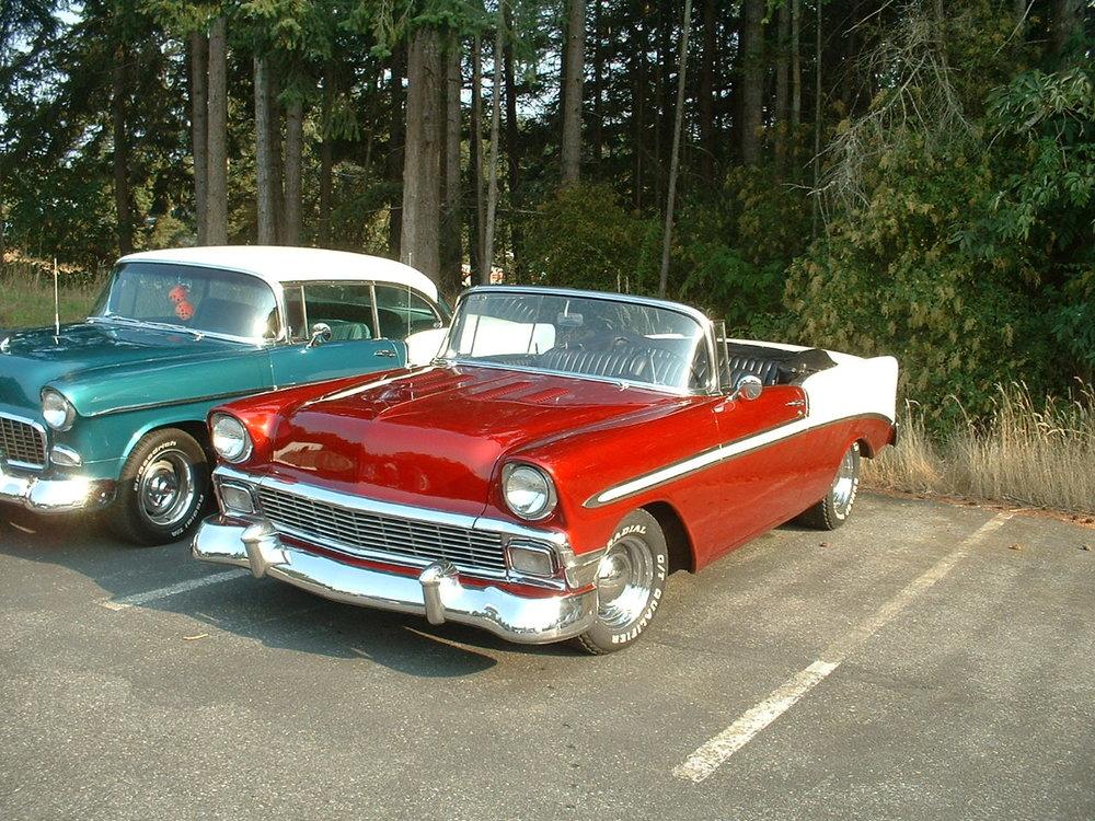 Russ & Rosalie Olson 56 Chevy Belair