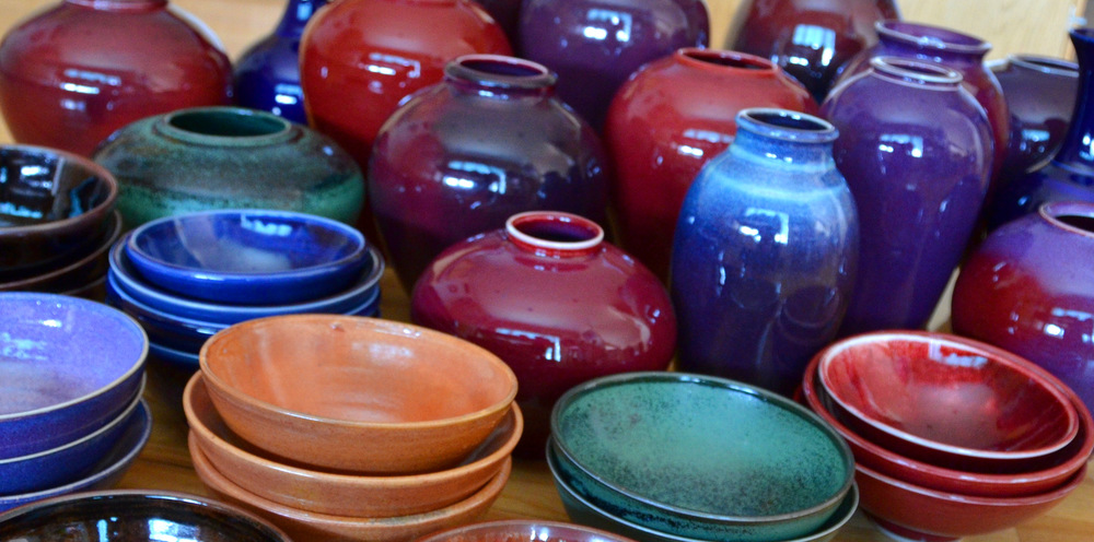 Porcelain Bowls, Vases, Cups, and Planters | Caldwell Pottery