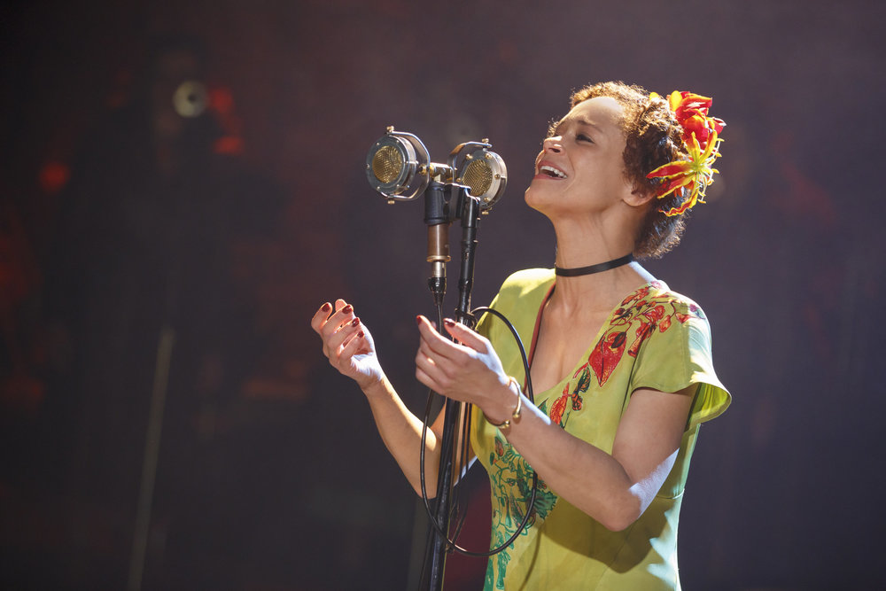 Amber Gray in Hadestown (2016). Photo by Joan Marcus