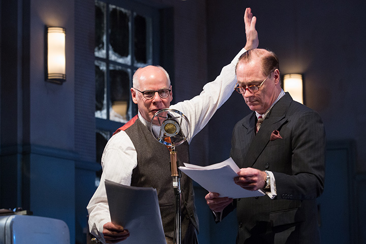 It's A Wonderful Life  at Soulpepper Theatre (2016). Oliver Dennis, Derek Boyes. Photo by Cylla von Tiedemann