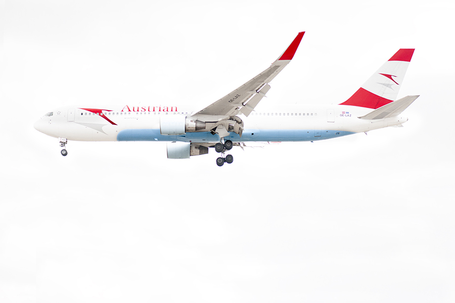 THe Laird Co Austrian Airlines B767 WHite Out Profile livery aviation avgeek airplane airline photography for site 2.jpg