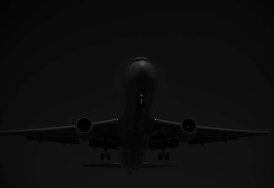 THe Laird Co 777 nose black and white aviation avgeek airplane airline photography for site.jpg
