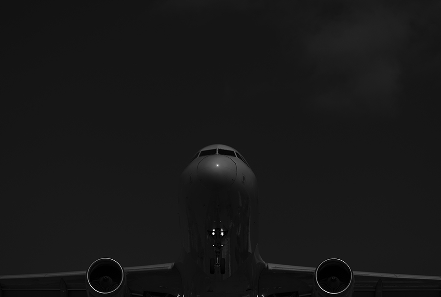 The Laird Co Air Canada Boeing B767 Black and white Aviation avgeek airplane airline landing photography for site.jpg
