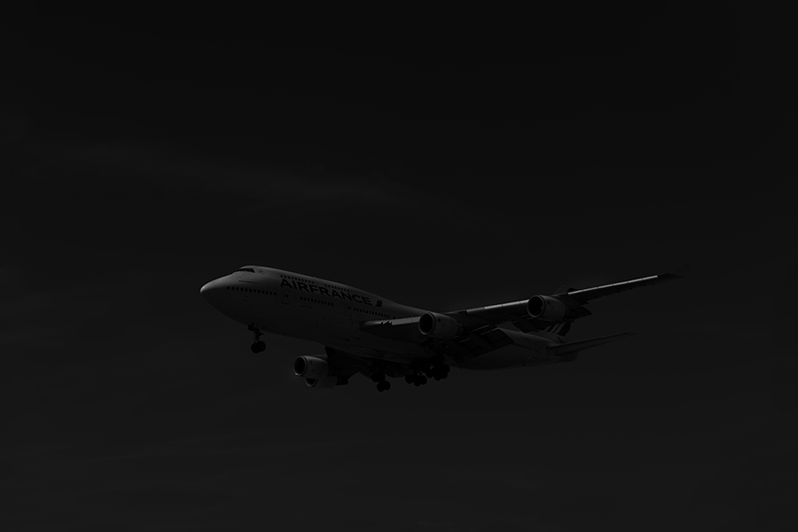THe Laird Co Air France 747 Black and white aviation avgeek airplane airline photography for site.jpg