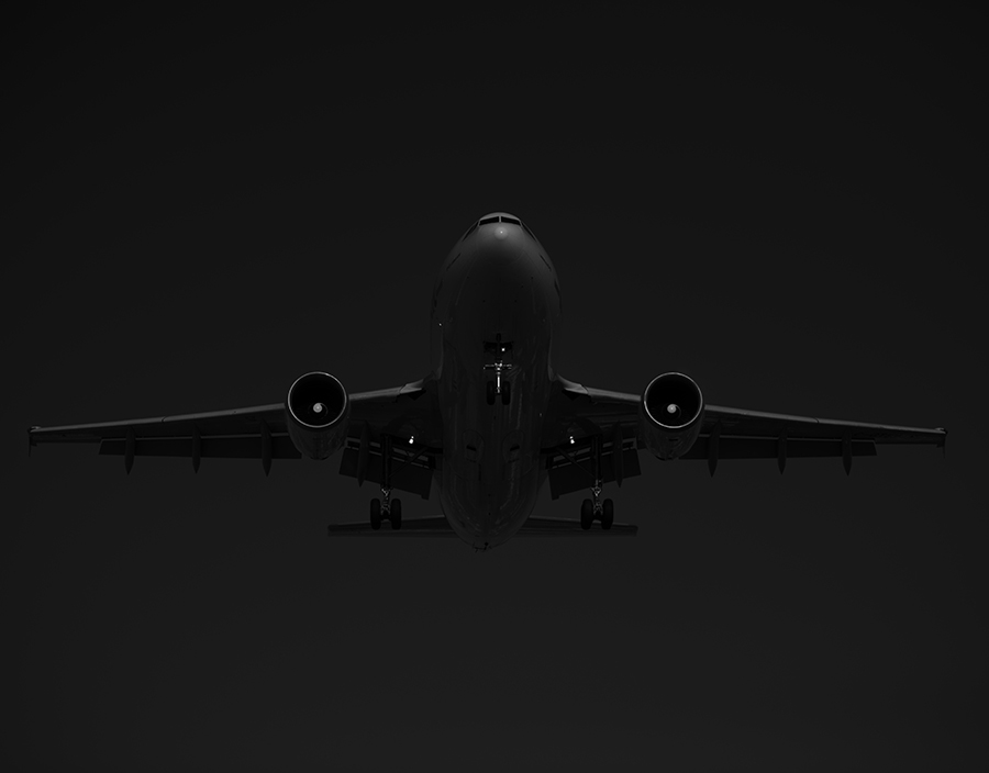 THe Laird Co AIr Transat Black and White Airbus A310 Aviation Avgeek Airplane Airline photography for site.jpg