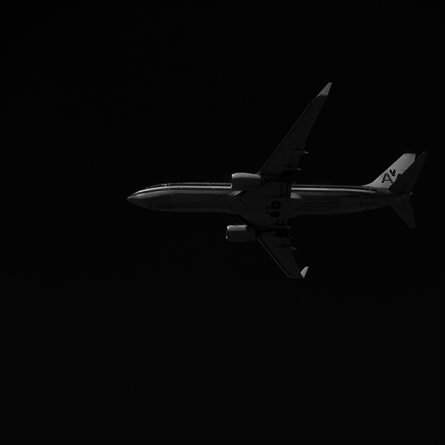 The Laird Co American Airlines 737 profile black and white aviation avgeek airline airplane photography for site.jpg