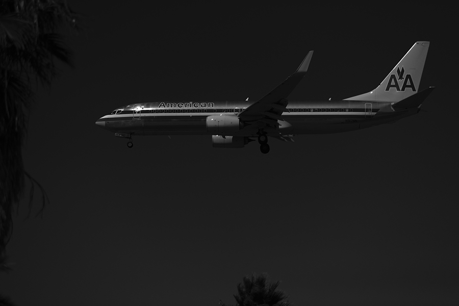 The Laird Co American Airlines Boeing 737 Profile Black and WHite aviation avgeek airline airplane photography for site.jpg