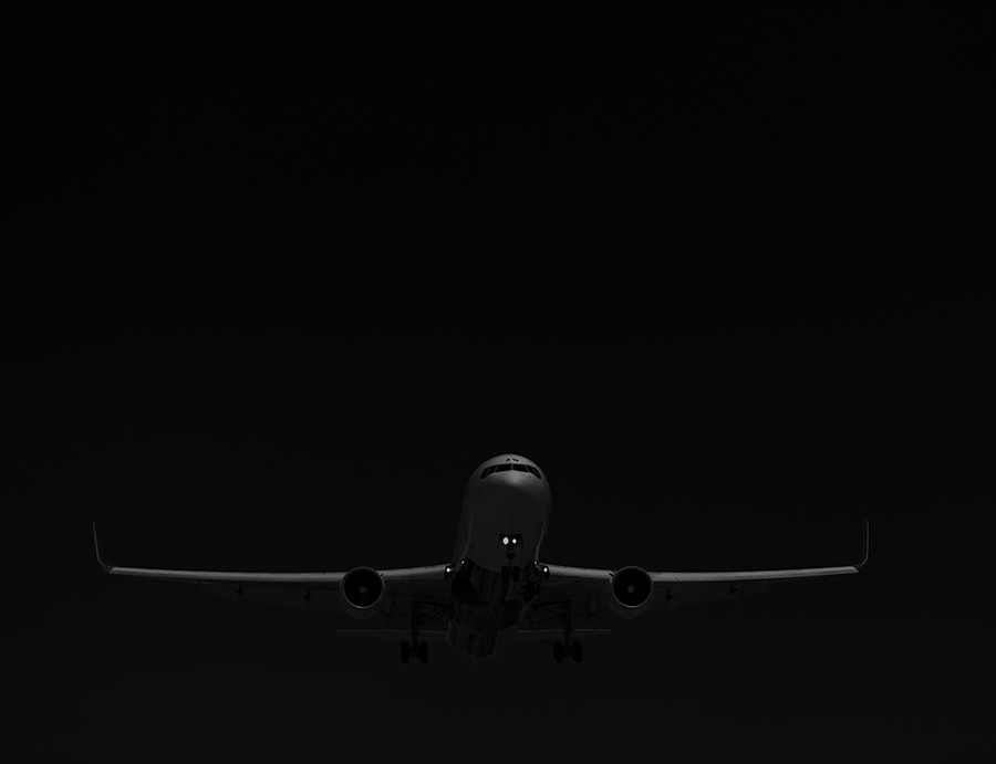 The Laird Co Austrian b767 black and white aviation avgeek airplane airline photography for site.jpg