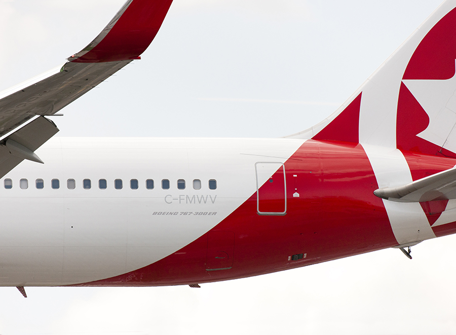 The Laird Co Air Canada Rouge B767 Tail profile aviation avgeek airplane airline photography for site.jpg