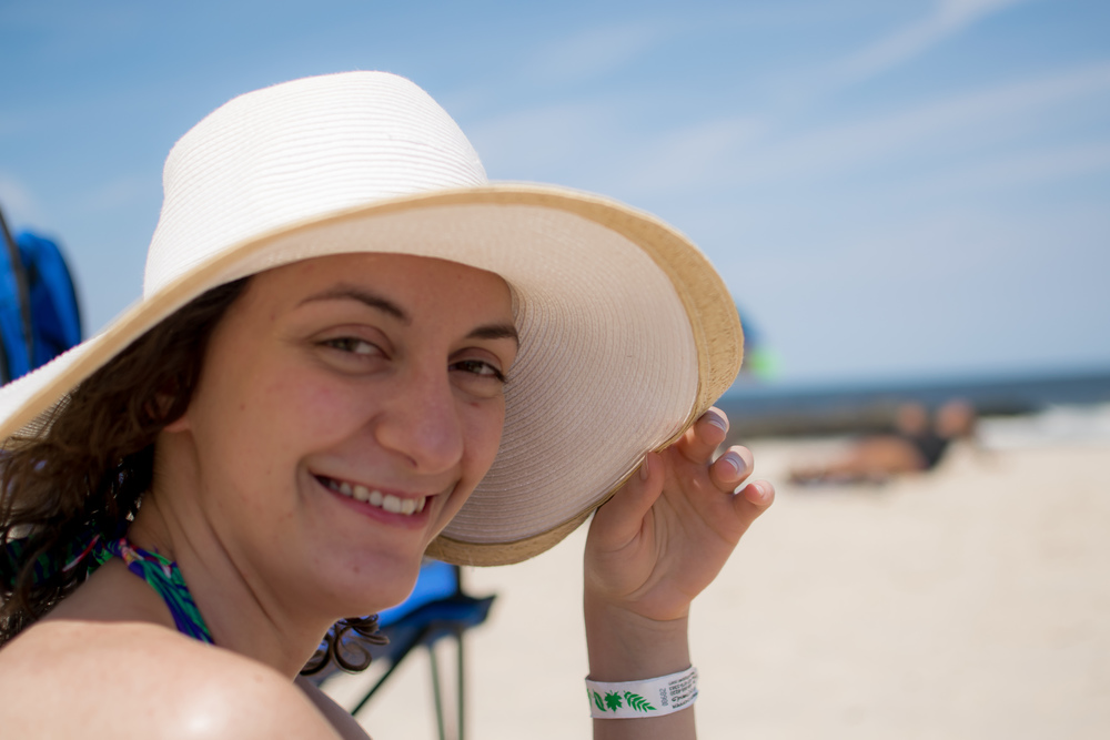 Summer Lab Outing 2015 - Alexandra at the beach