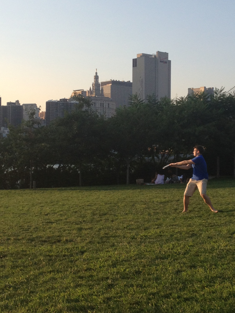 Summer Lab Outing 2014 - Aleks playing Frisbee