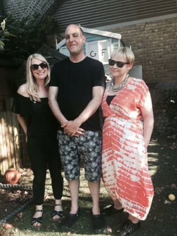 Anna Lyons, Jon Underwood & Louise Winter at Jon's home in Hackney in October 2016