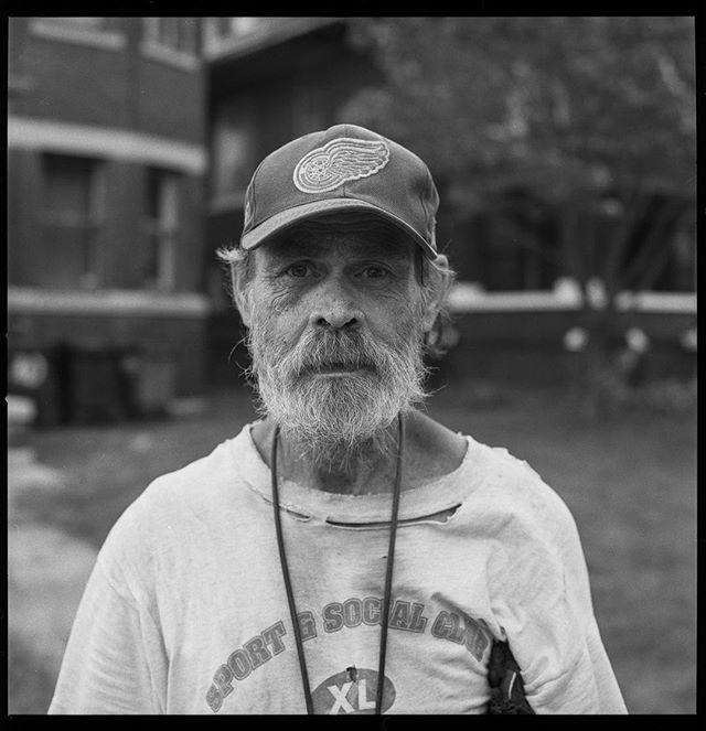 Landscaper in a Detroit suburb #hasselblad