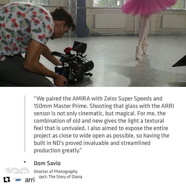 Honored to be featured on @arri