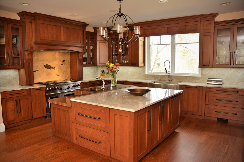 Cherry Kitchen with Fossil Flare