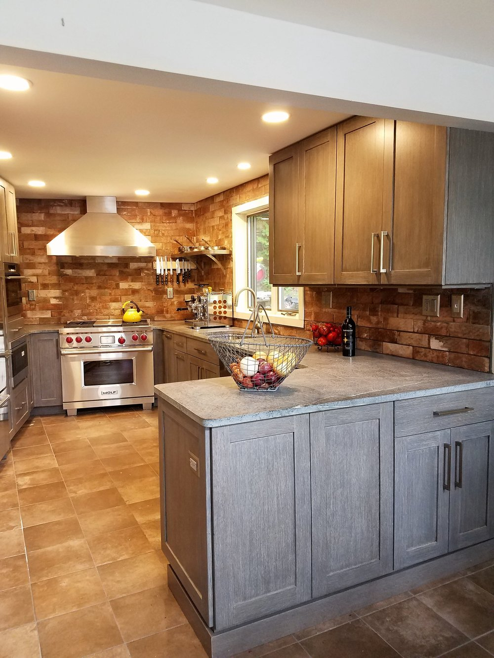 Rustic Grey and Brown Kitchen