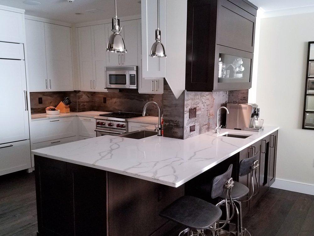 Urban White Transitional Kitchen